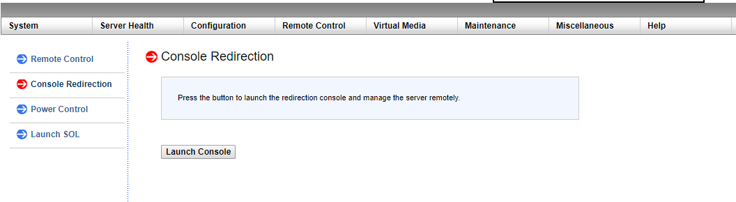 Console Redirection