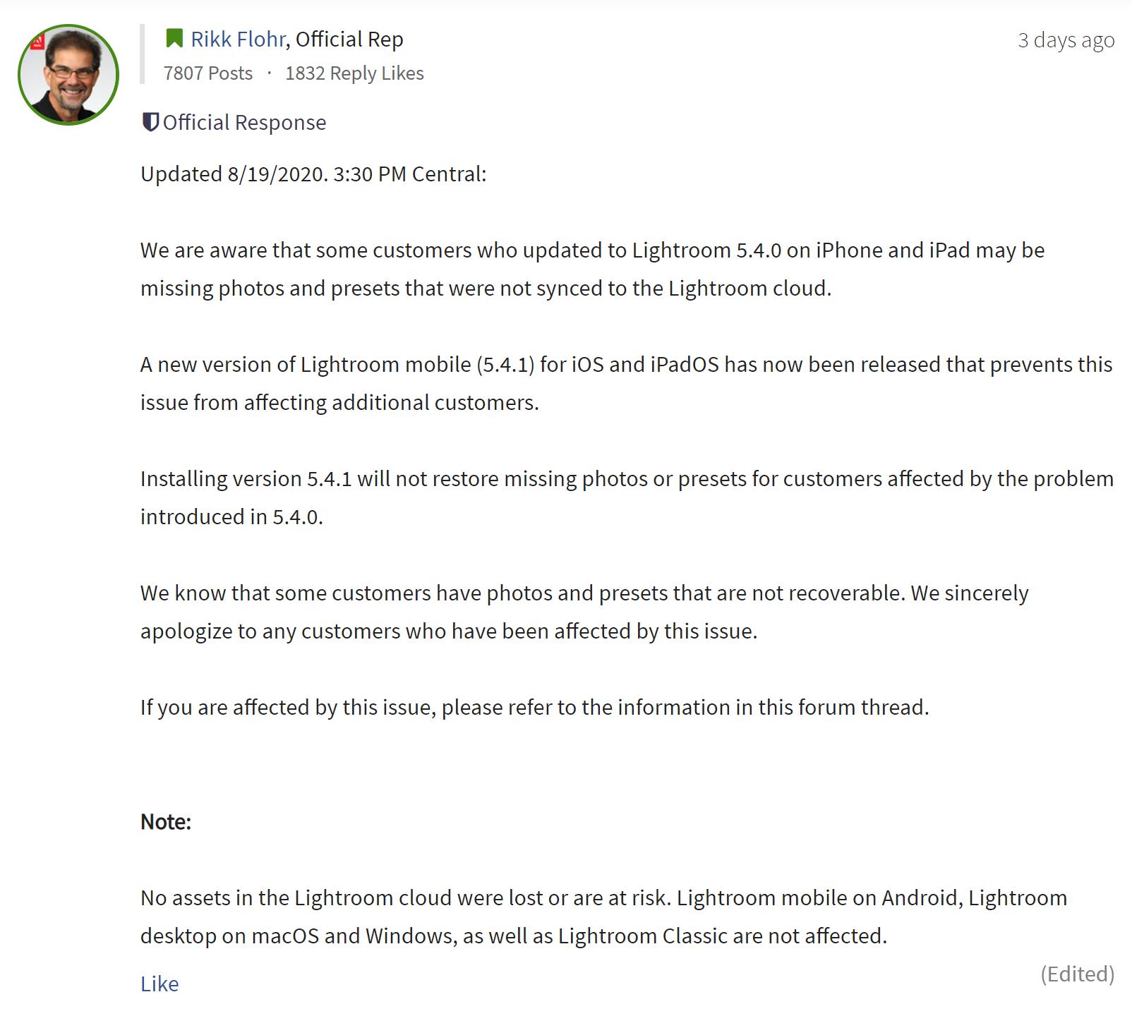 Adobe извинился перед пострадавшими