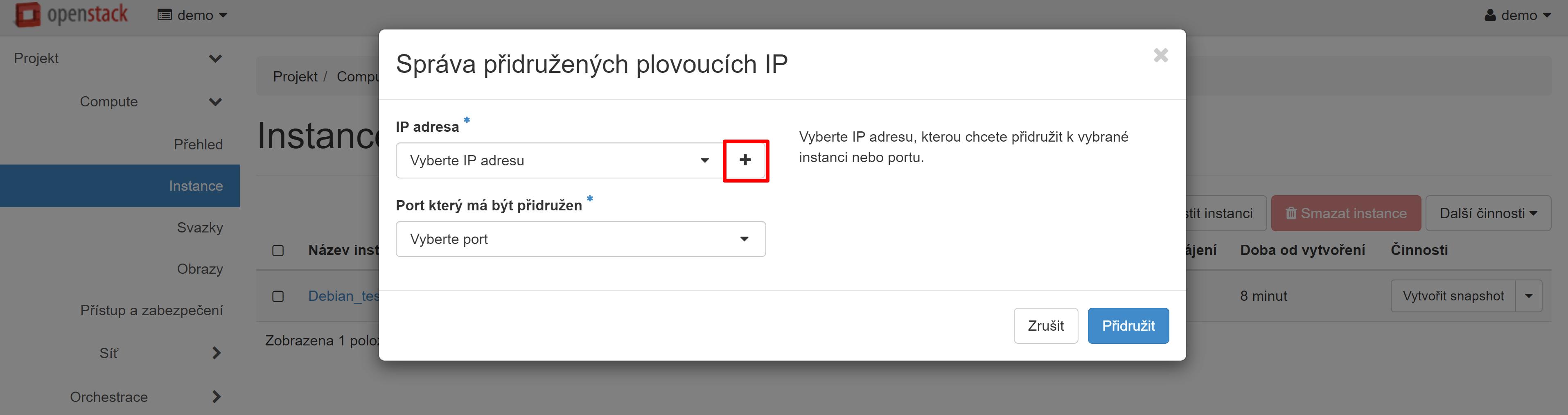 Přípojit plovoucí IP