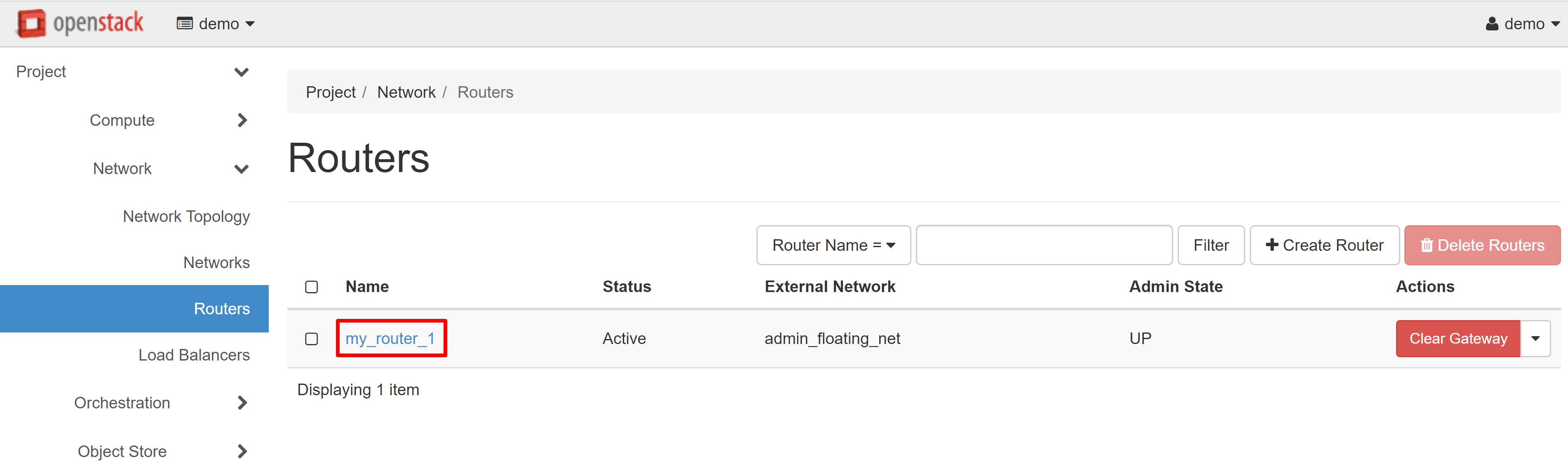 CREATE ROUTER