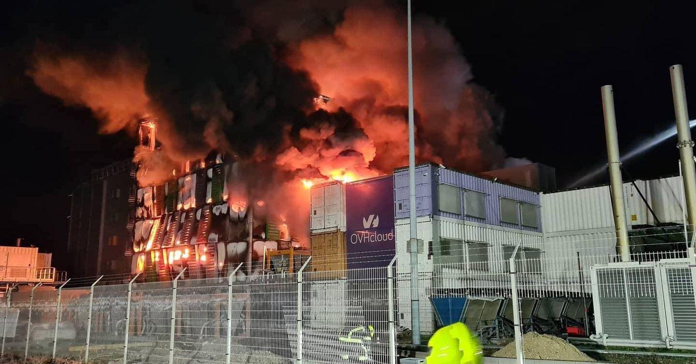 Первым загорелось здание SBG2.